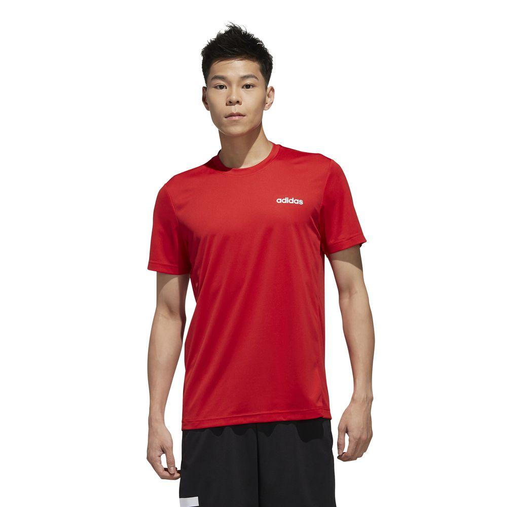 Polo Adidas Hombre Fl0290 M D2M Pl Tee Rojo
