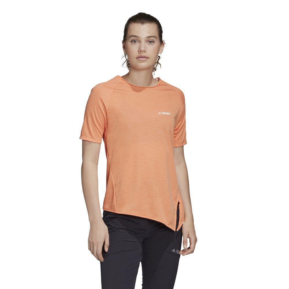 Polo Adidas Mujer Fi2412 W Hike Tee Naranja