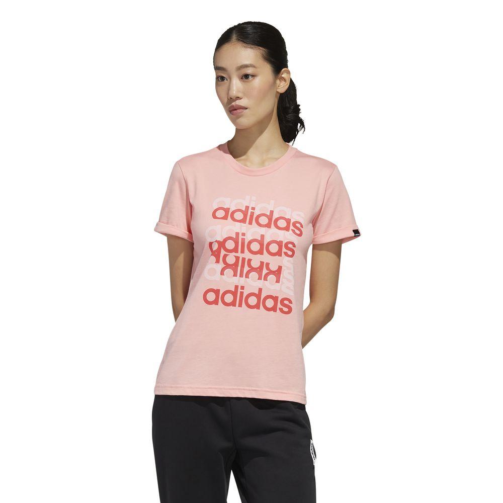 Polo Adidas Mujer Fm6155 W Big Gfx T Rosado
