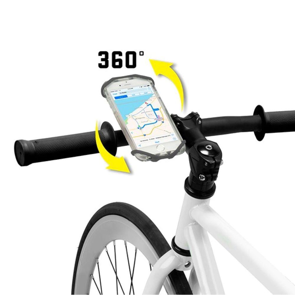 Porta Celular Universal Giratorio para Bicicleta Nite Ize Wraptor Color Negro
