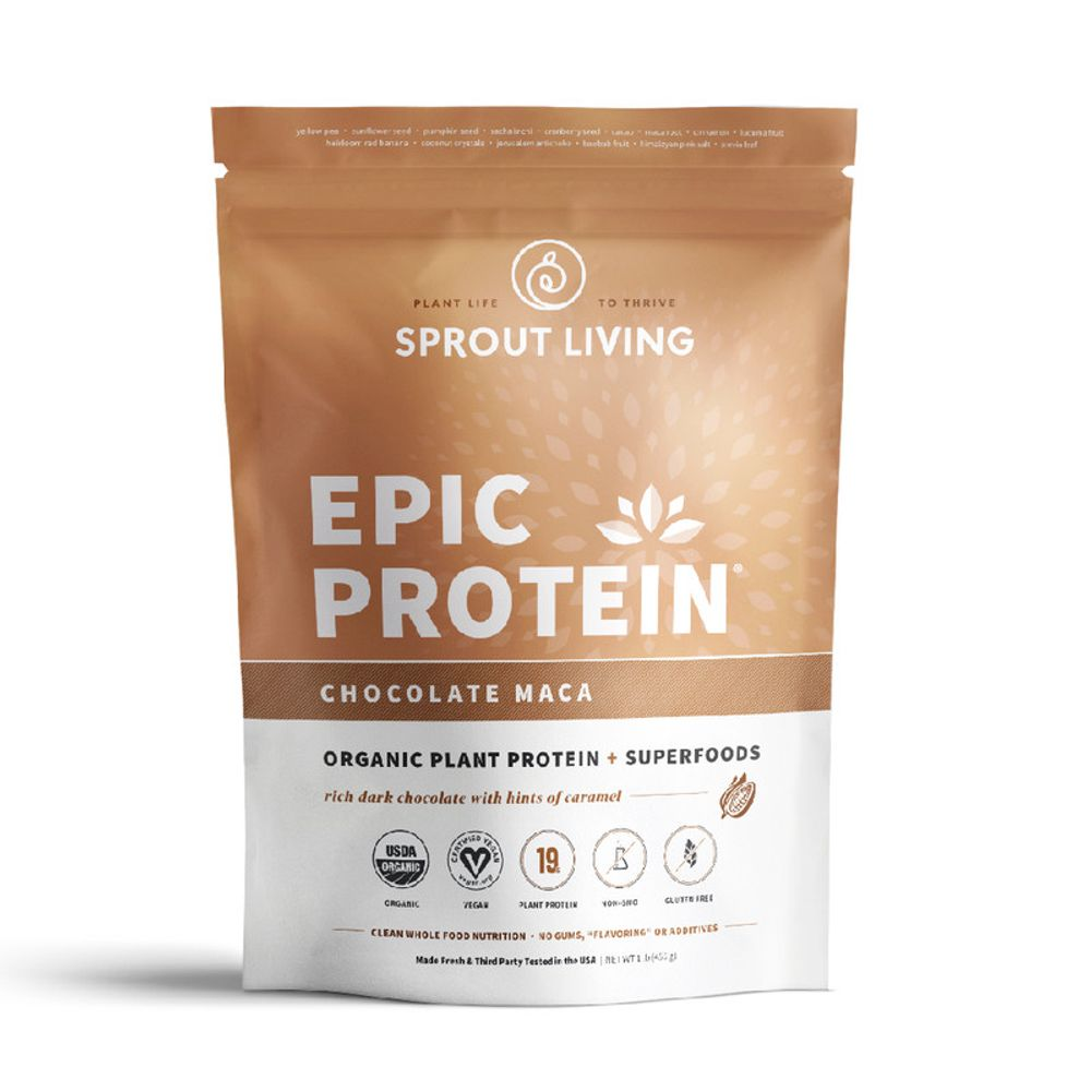 Proteína Vegana Sprout Living Epic Protein Chocolate Maca 1lb