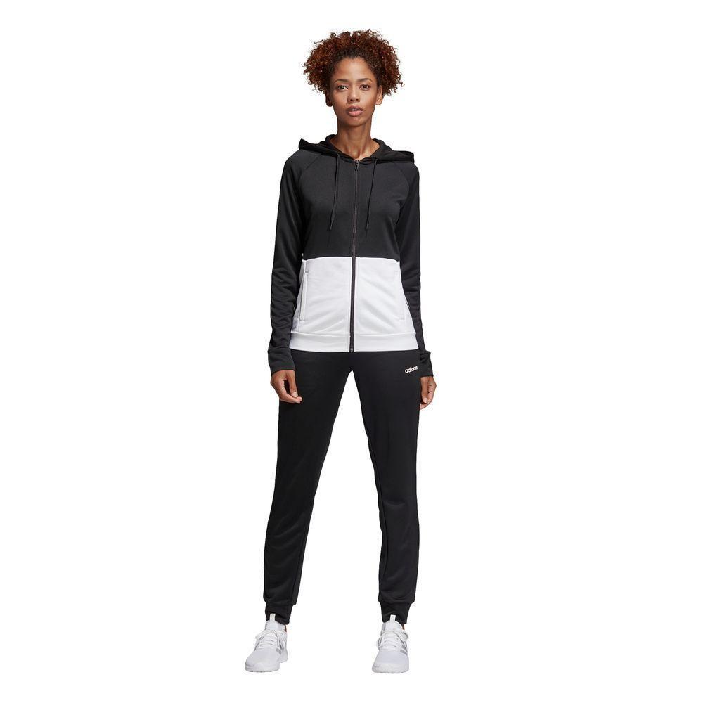 Buzo Adidas Mujer WTS Lin FT Hood Negro