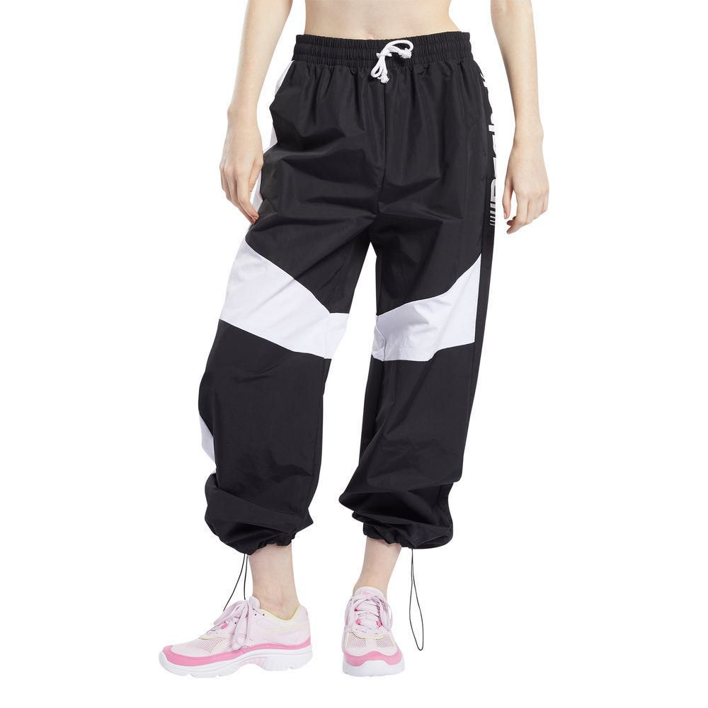 Pantalón de Buzo Reebok Mujer Wor MYT Wide Leg Pant Negro