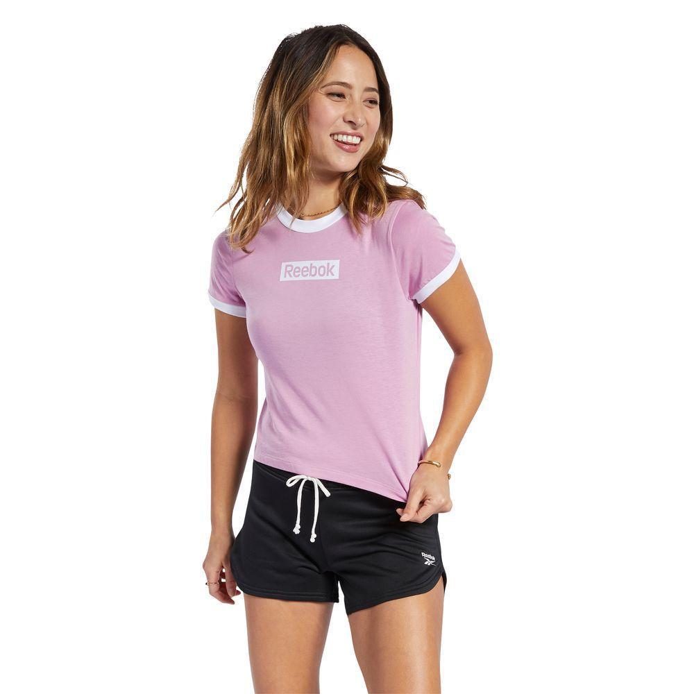 Polo Reebok Mujer Te Linear Logo Slim Tee Rosado