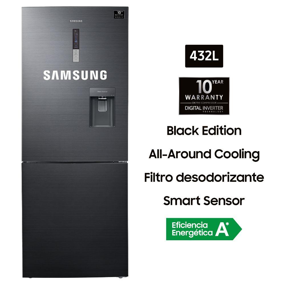 Refrigeradora No Frost RL4363SBABS 432L Negro Inox
