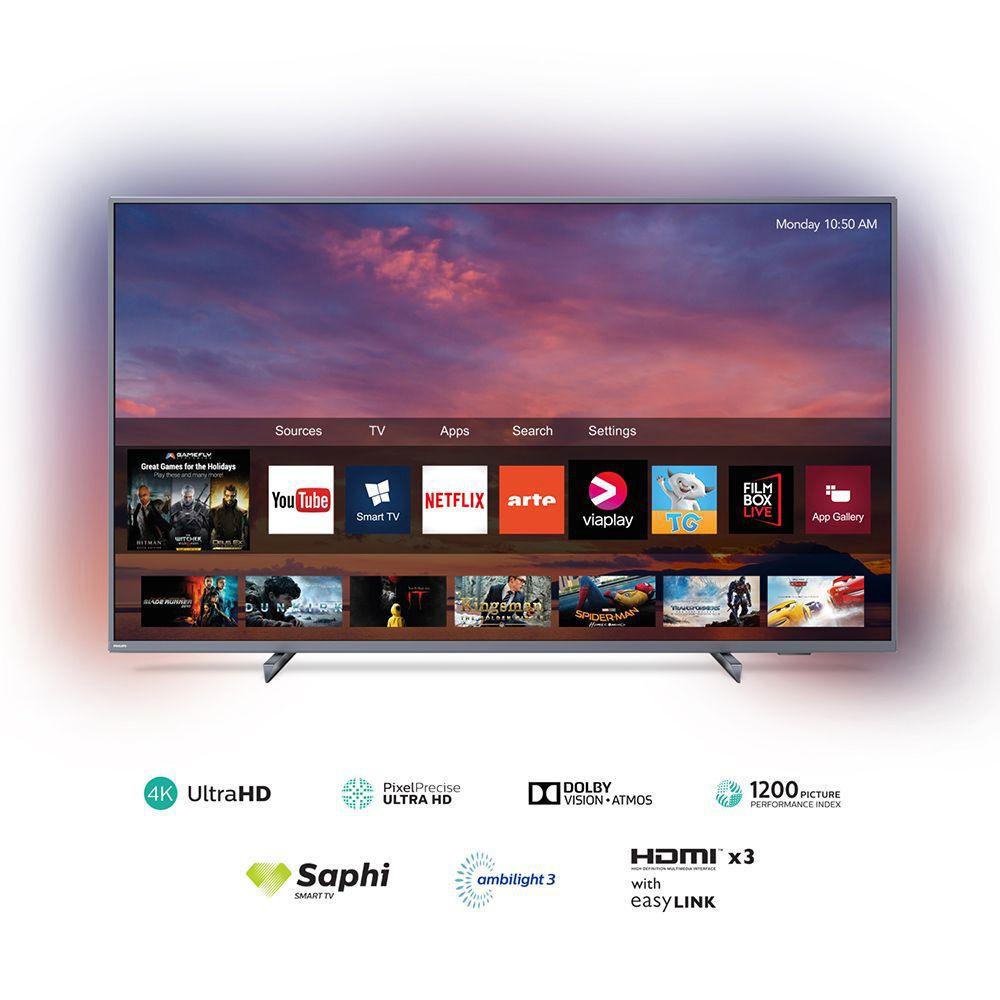 Televisor LED PHILIPS 4K UHD Smart TV 55