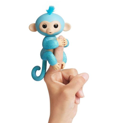 Juguete Fingerlings Glitter Monkey Celeste