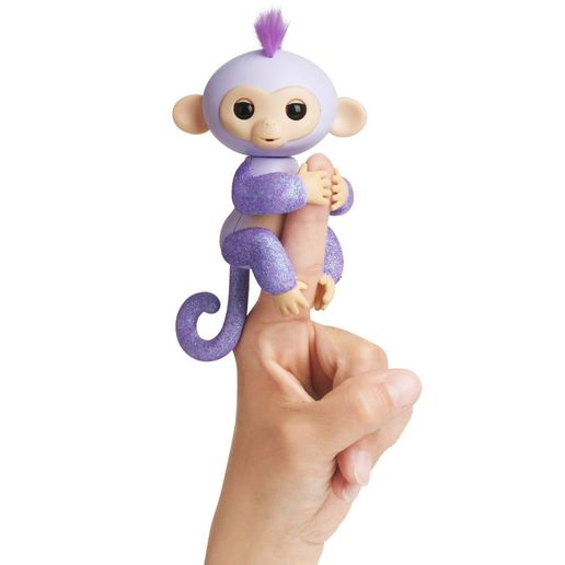 Juguete Fingerlings Glitter Monkey Lila