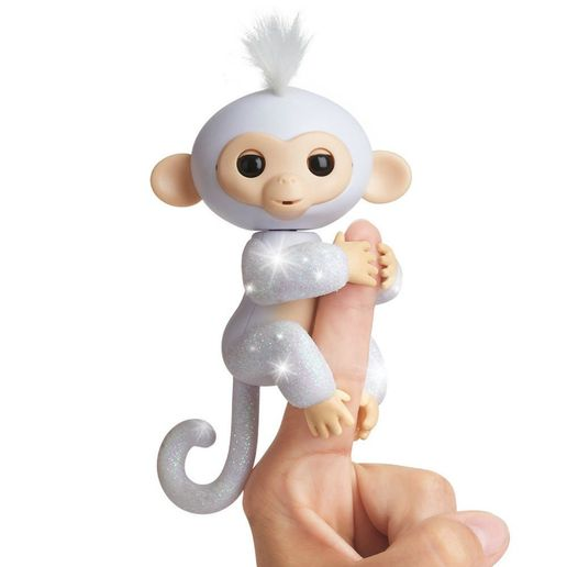 Juguete Fingerlings Glitter Monkey Blanco