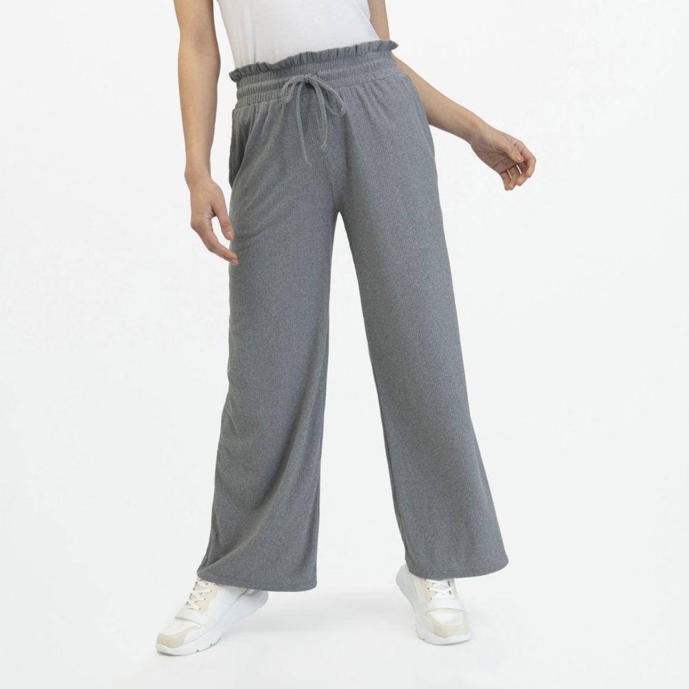 Pantalon Mujer Palazzo Rib Oechsle Pe Oechsle