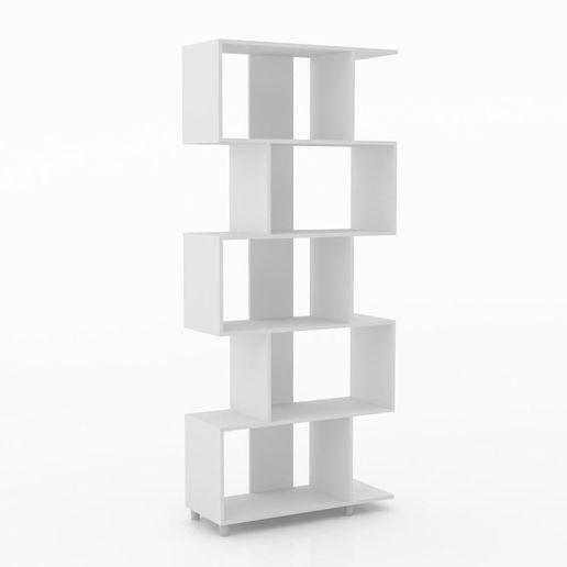 Librero Zigzag Blanco-1219191-1