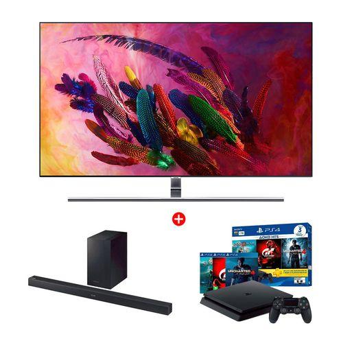 Combo-QLED-4K-Smart-TV-55--QN55Q7FNAG---Soundbar-HW-M360---PS4-1TB-3-Juegos-1268357