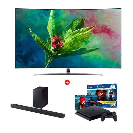 Combo-QLED-4K-Curved-Smart-TV-65--QN65Q8CNAG---Soundbar-HW-M360---PS4-1TB-3-Juegos-1272281