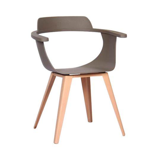 Silla Plastica Diseño Gris-1218224-1