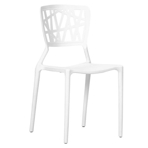 Silla Plastica Respaldo Rayas Blanco-1218221-1