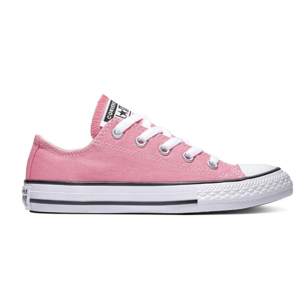 TENIS CONVERSE HELLO KITTY CHUCK TAYLOR ALL STAR MADDIE SLIP NIÑA JUNIOR NEGRO ROSA