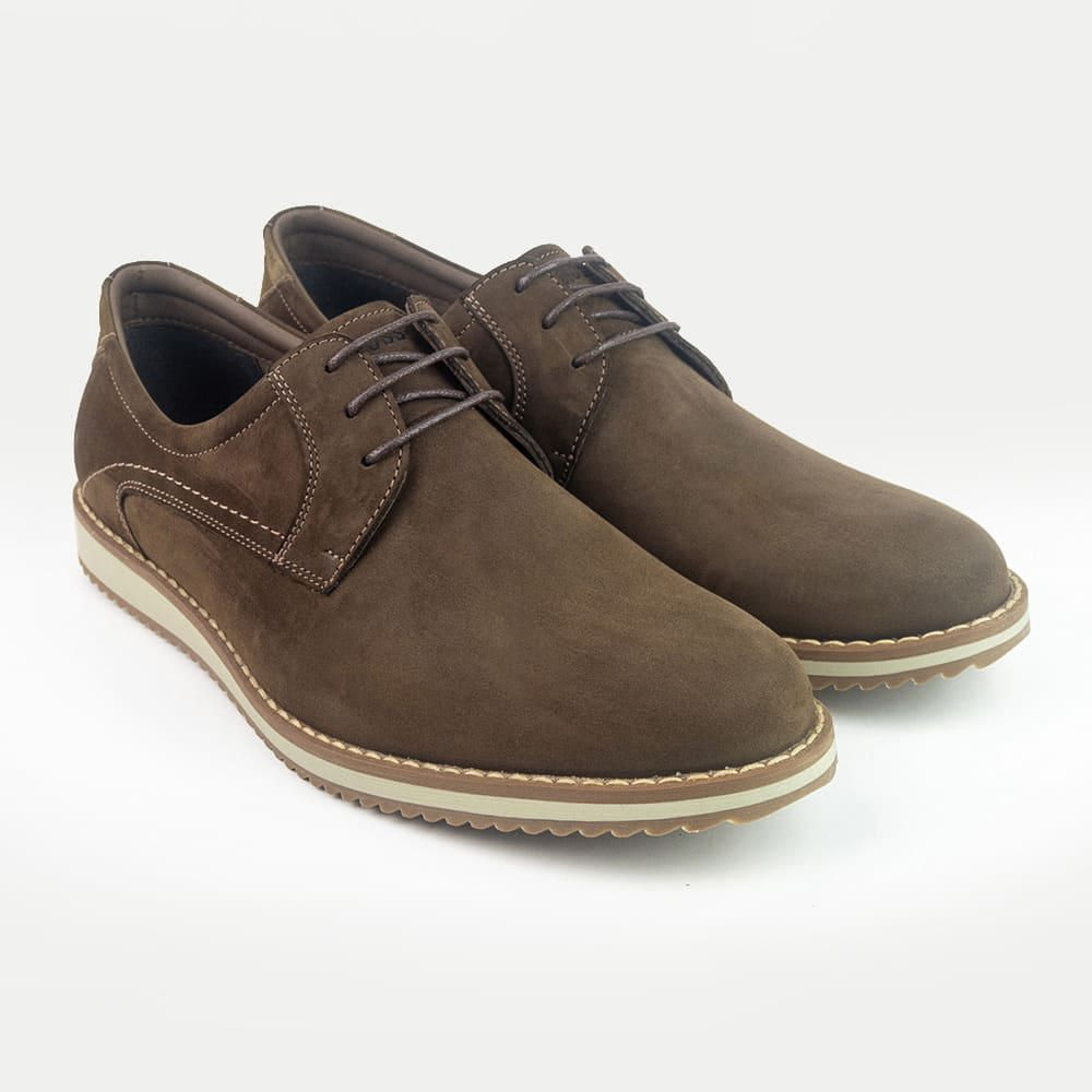 5f9707eced Zapatos Casuales Hombre Sport Cordón Marrón