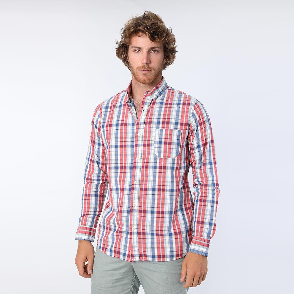 2e7c01f36d Camisa Manga Larga con Estampado Cuadros