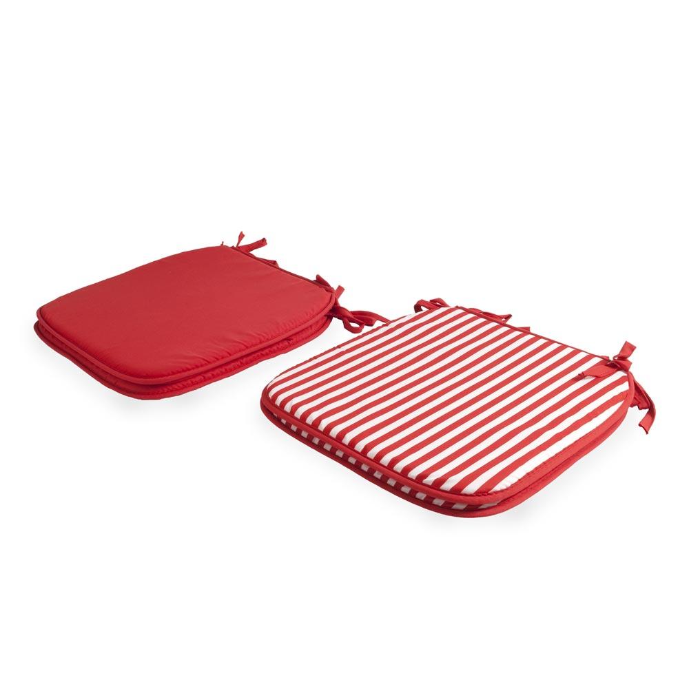 Cojines Para Sillas Rojo X4 Unidades Oechsle
