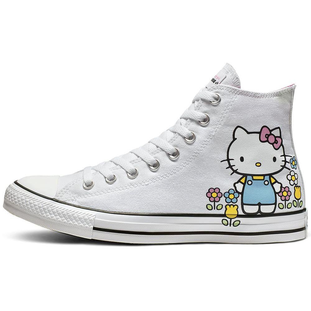 1a8551f56 Zapatillas Urbanas Mujer Converse x Hello Kitty CTAS Hi Blanco ...