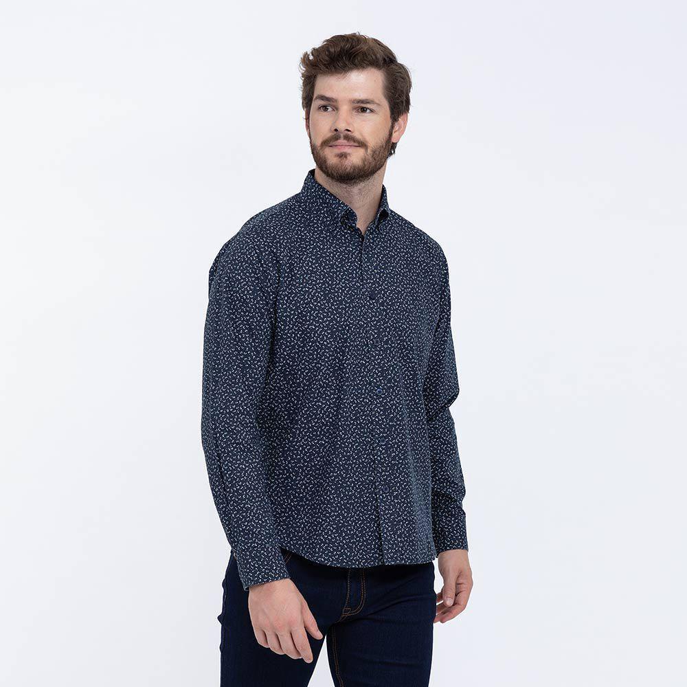 f5bb93649a Camisa Estampada Azul Marino | Oechsle - Oechsle