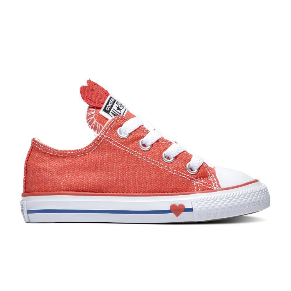 235bd759c Zapatillas Urbanas Converse Chuck Taylor All Star Denim Love Rojo ...