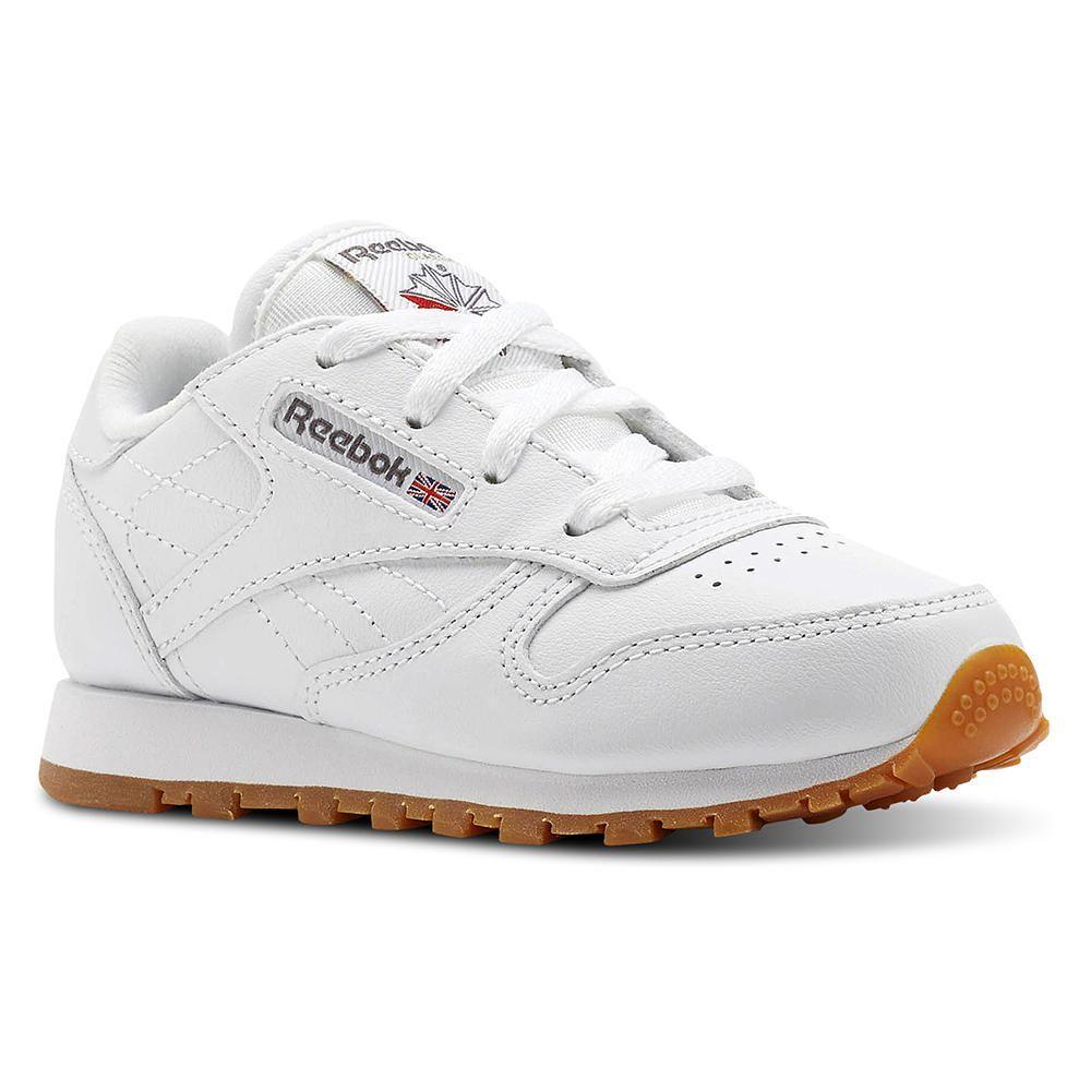 Zapatillas de Niño Reebok V69626 Classic Leather Blanco